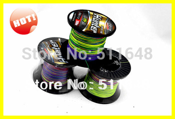 Free Shipping High Quality 500M/PCS PE Multicolor Braid Fishing Lines 10-80LB
