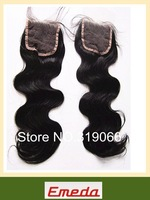 Free Shipping Fashion 8-26 inch loose curl  Lace Closure Brazilian Virgin Human Hair