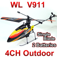 Free shipping WL toys V911 4CH 2.4GHz Radio Control Helicopter RTF,Single Blade RC Helicopter Gyro,Perfect mini wltoys