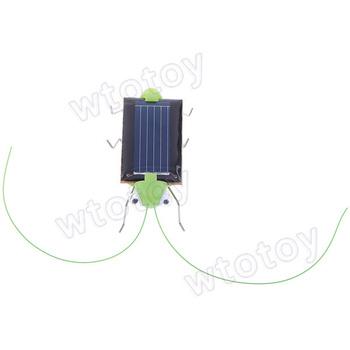 5 pcs/lot Mini Solar energy Power Robot Insect Bug Locust Grasshopper Toy kids Gadget Gift