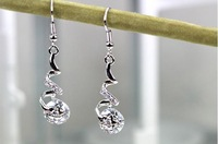 Minimum order $15 free shipping Earrings crystal zircon fashion  long design tassel accessories girlfriend gifts birthday gift