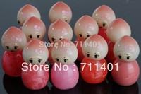 Dream Peach Lip Gloss Of Cute Doll peach PRINCESS Eastlina Cosmetics fruit flavour lip honey Free shipping! 16pcs/lot