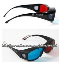 2013 Free shipping 5PCS/Lot Universal type 3D glasses/Red Blue Cyan 3D glasses Anaglyph NVIDIA 3D vision Plastic glasses