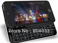New Ultra Thin Slide-out Bluetooth Wireless Keyboard Hard Shell Back Case Skin Cover Only For iphone 5 5G iphone5 Free Shipping