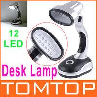 Battery-Powered Cordless LED Lamp Mini 12 LED Emergency Desk Lamp  Free Shipping