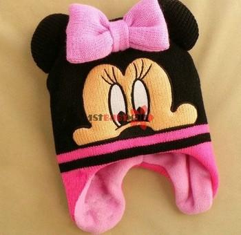 [1st Baby Mall] 3pcs/lot baby boys/girls hats Mickey/Minnie cap infants hats cartoon cap winter warm hats M-BH-005