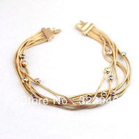 Freeshipping 2013 newstyle18k rosegold plated starry pullchain bracelet&bangle F&H Italina Jewelry Austria SWA crystal wholesale