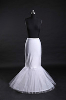 Free Shipping Mermaid Wedding Dress  Petticoat  Bridal Petticoat  2 Hoops with 2 layer