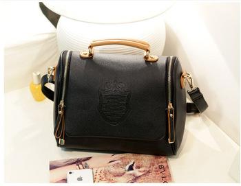 2013 hot sale new arrving korea handbags fashion design double zipper PU leather bags shoulder bags women's messenger bags