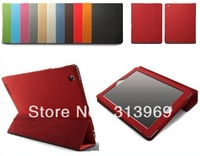 Foldable Magnetic PU Leather Stand Case Smart Cover For Apple iPad 2 3 Multiple Color 50pcs/lot free shipping