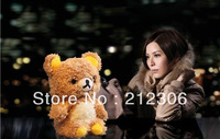 MOQ:1 PCS! Newest 3D Idoll Bear plush cover case for iphone 5 5G  With  retail packing !  Free shipping!