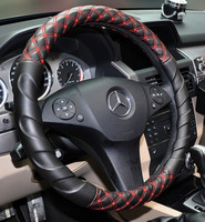 RUICH Free Shipping New Car Interior Fashion Accessories Luxury Faux Suede PU Leather Auto Steering Wheel Cover