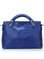 Free shipping top quality handbags genuine leather, women handbags tote cross body bags, crocodile embossing handbags