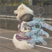 New Product for 2013 Cotton Fabric Satin More Sizes Funny Pet Hangers for Dog Clothes