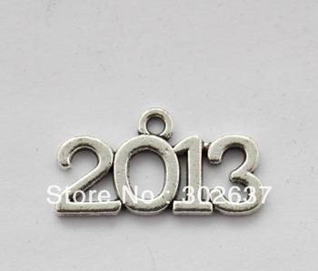 FREE SHIPPING 80PCS Fashion 2013 word charm Pendants A17638 Silver gold bronze colours