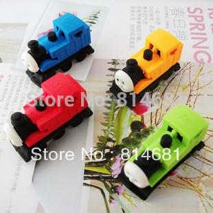School supplier Wholesale eraser small lovely Thomas 4 colors student pencil cartoon eraser 36pcs/box Drop Shipping(China (Mainland))