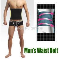 Free Shipping Men Body Black Healthy Slimming Belt Abdomen Shaper Burn Fat Lose Weight Men's Muscle Belt Girdle Bodysuit
