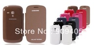 Wholesale Free Shipping Best Quality Leather Case For Samsung I8190 Galaxy MINI S3 With retail Package Back Flip Cover 50PCS/lot