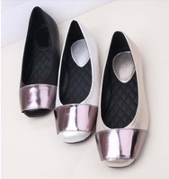 2014 new square toe flat shoes  shallow mouth Soft bottom Women's shoes  3 color