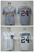 Free Shipping #24 Miguel Cabrera Men's Baseball Jersey,Embroidery and Sewing Logos,size M--3XL,Accpet Mix Order