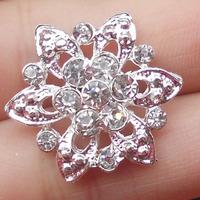 Mini Flower Rhinestone Button---------------BUT0244