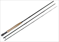 Fly fishing rod -carbon fiber pole 2.28m 7'6'' with 3 sections , cork handle