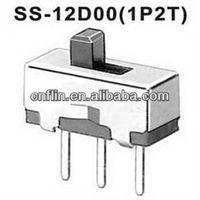 1000pc/lot Mini Size SPDT PCB Dip Slide Switch SS-12D00