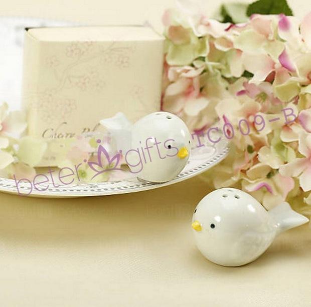 Free Shipping 50box Love Birds Salt and Pepper Shaker Wedding Favors TC009(China (Mainland))