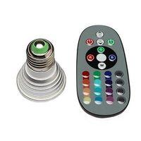 Wholesale - 1set 3W E27 Farbwechsel RGB LED Licht Lampe Birne 110-220V IR Fernbedienung without memory 80187