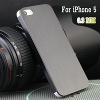 Hot 0.3mm Ultra-Thin Brushed Aluminum Case for 5 Iphone   cover for Iphone5 5g Deluxe high-quality back cover