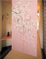 Free Shipping Brand New Romantic Oriental Cherry Japanese Noren Doorway Curtain JOY-5901 Wholesale and Retail