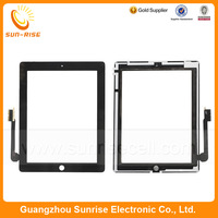 20pcs/lot For iPad 3 Touch Screen Glass Digitizer Panel Replacement With 3M Adhesive Black/White color DHL free shipping