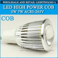 High power led bulbs Spotlight Bulb 5W 7W GU10 COB AC85-265V Cold white/warm white Free shipping