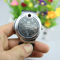 Cigarette Butane Lighter  silver golden men's quartz wrist watch lighter