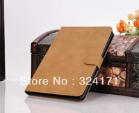 High quality Retro book style flip leather case for ipad mini, luxury stand leather case for ipad mini+Free Shipping
