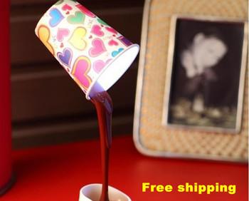 Free shipping Novelty light Saving creative warm fashion USB battery dual-use low-carbon coffee lamp LED lamp bedside lamp