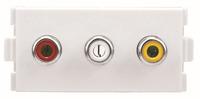 Modular Wall Plate AV Wall Plate Module, AV wall plate(F-F) 224 electrical connector,terminal,wire connector