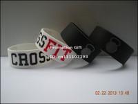 "CROSS FIT BRACELETS CrossFit Wristbands, Silicon bracelet, 1"" wide band, 50pcs/lot, free shipping"