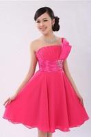 2015 gowns The bride  short design plus size XXXXXL evening dress chiffon  dress gowns party dresses