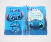 "Stitch Cute Blue  Passport Card Holder, Cartoon Travel Case Cover (5..3"" X 3.7"")--Free Shipping"
