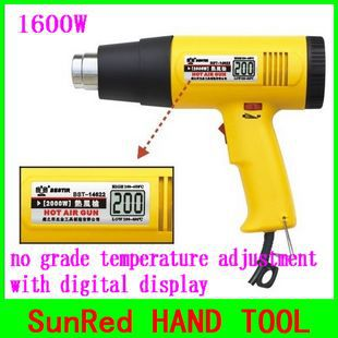 BESTIR taiwan manufactural electric power tool 1600w digital temperature hot air gun,NO.14621,NEW!!(China (Mainland))