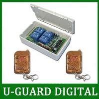 4 Channel 315/433MHz DC 9V/12V/24V Wireless Remote Switch - Transmitter & Receiver - Toggle Control Mode