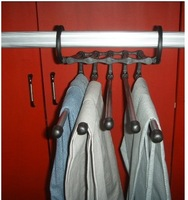 free shipping, Magic trousers hanger/rack multifunction pants closet hanger/rack 5 in one ,2pc/lot