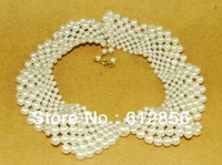 Mix size White Freshwater PEARL NECKLACE,pearl elegant bride gorgeous princess necklace pearl necklace