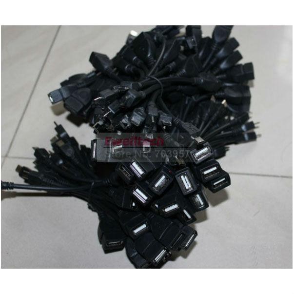 1pcs Micro USB Host OTG Cable Kit Adapter 10cm mini for tablet pc mobile phone