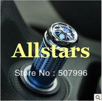 Free Shipping Brand New 2 Pcs Mini Auto Car Fresh Air Ionic Purifier Oxygen Bar Ozone Ionizer Cleaner Blue