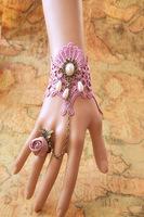 vintage jewelry handmade purple lace charm bangle flower ring crystal charm bracelets fashion women accessories new jewelry 2013