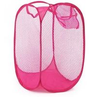 Folding dirty clothes basket folding colorful mesh laundry storage basket color