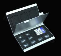 Aluminum Micro SD MMC TF Memory Card Storage Box Protecter Case hold 4x SD 8x TF