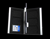 Aluminum SD SDHC MMC Memory Card Storage Box Protecter Case hold 6x SD New #109